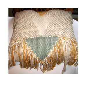 artisan-made item Accents - American Craft Council Handwoven Wool Pillow
